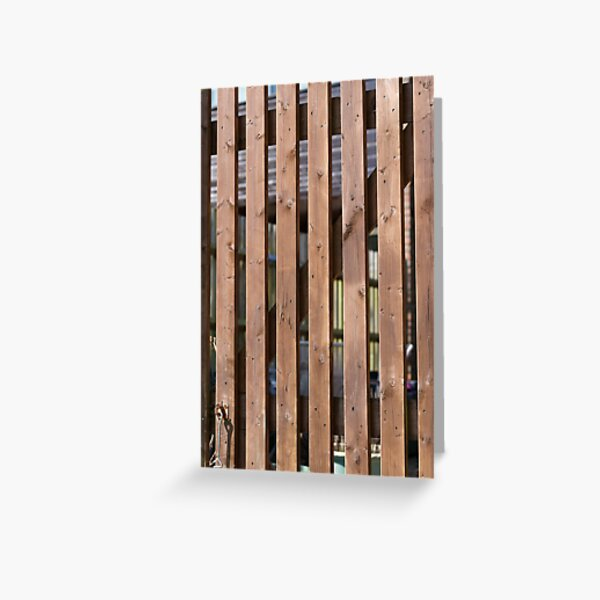 Brown coloured garden fence Greeting Card