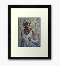 Serena Williams - Portrait 5 Framed Print
