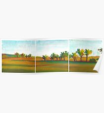 French countryside, mixed media on canvas Poster