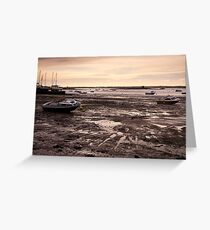 Boats at West Mersea, Essex Greeting Card