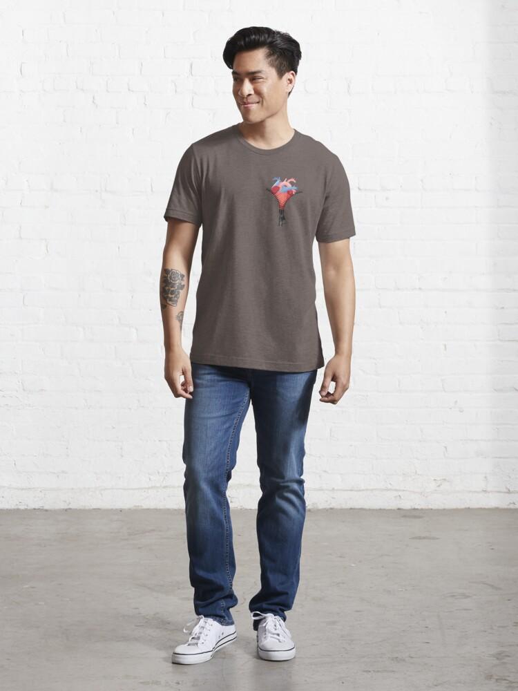 Alternate view of Open Heart Surgery Survivor Zipper Club Memeber Warrior Essential T-Shirt