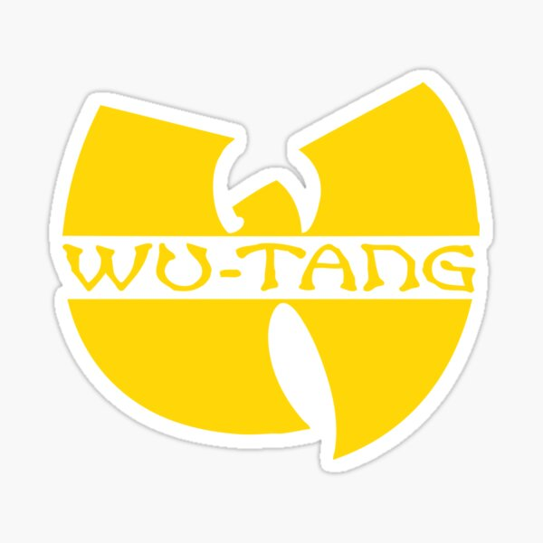 wu tang logo Sticker