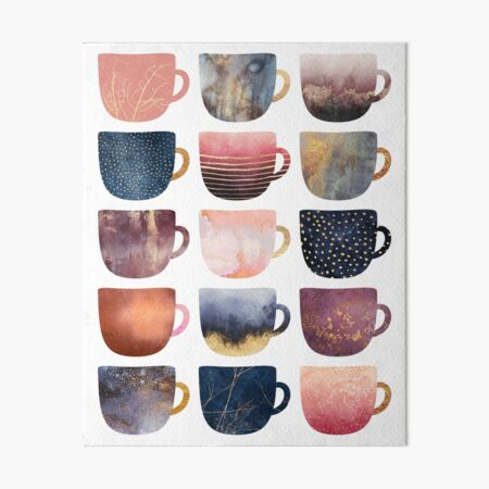 Pretty Coffee Cups 2 Art Board Print