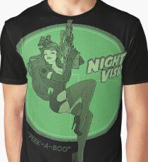 Night Vision Pin Up Graphic T-Shirt