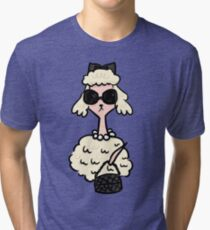 French Poodle Tri-blend T-Shirt