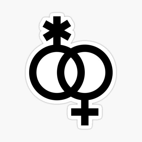 nblw / wlnb, símbolos entrelazados en negro Pegatina