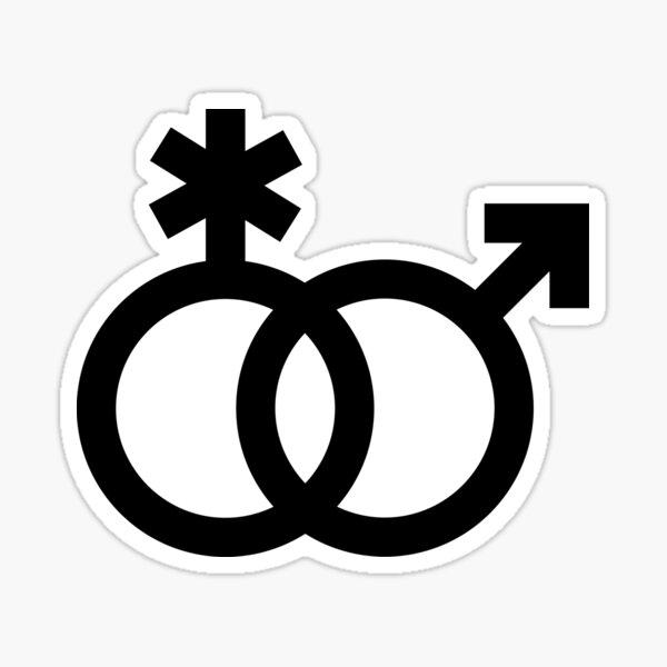 nblm / mlnb, símbolos entrelazados en negro Pegatina