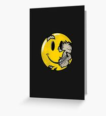Smiley face skull Greeting Card