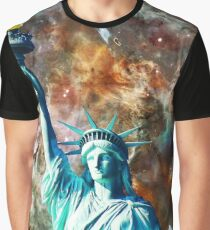 Statue Of Liberty - She Stands by Sharon Cummings Graphic T-Shirt