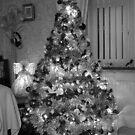 Christmas Tree in B&W by AnnDixon