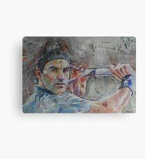 Roger Federer - 6 Canvas Print