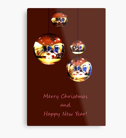 Merry Christmas and Happy New Year! Metal Print