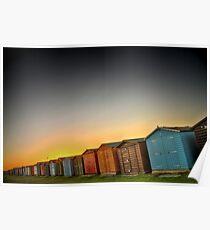 Beach Huts At Dovercourt Poster