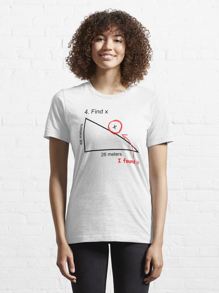 Alternate view of Find X (Homecoming, Math) Essential T-Shirt