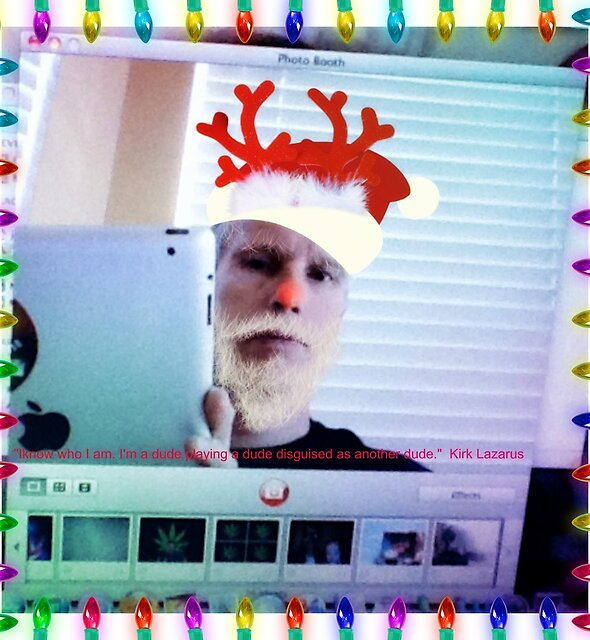 Dipstick in Search of Oil's Digital Happy Holidays Card by John Linton