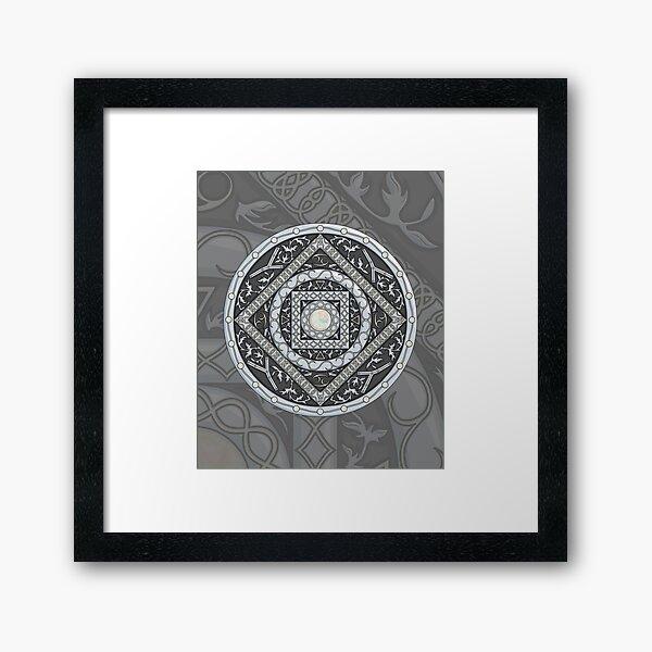 Cancer Mandala Framed Art Print