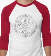 Human transmutation circle - charcoal Men's Baseball ¾ T-Shirt