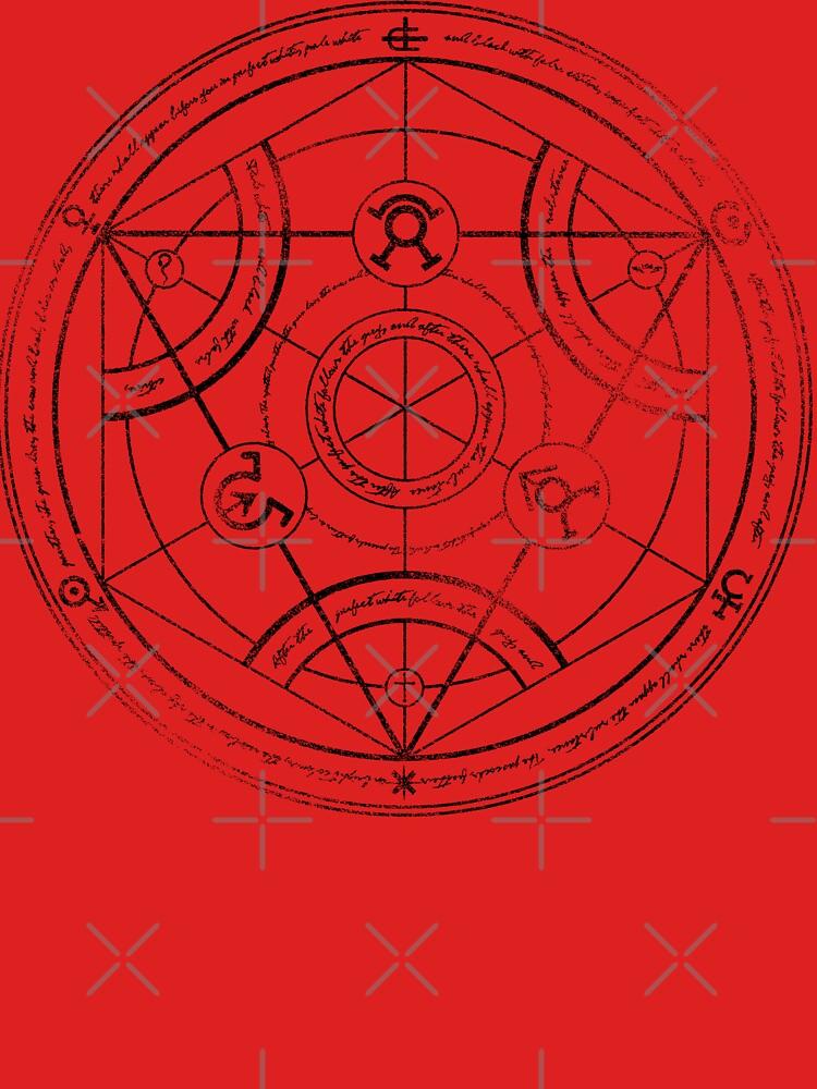 Human transmutation circle - charcoal | Unisex T-Shirt