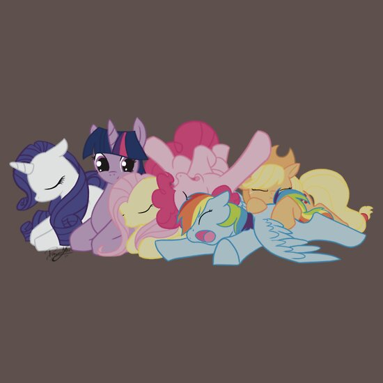 TShirtGifter presents: Sleepy Ponies