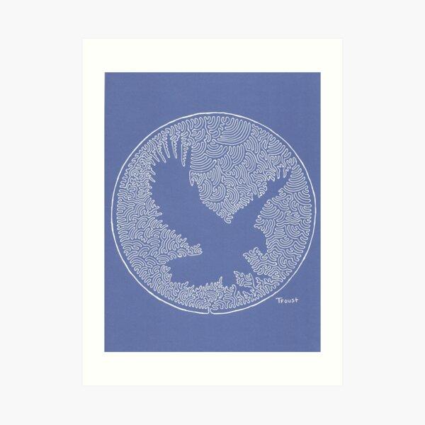 One Line Eagle von tfoust Kunstdruck