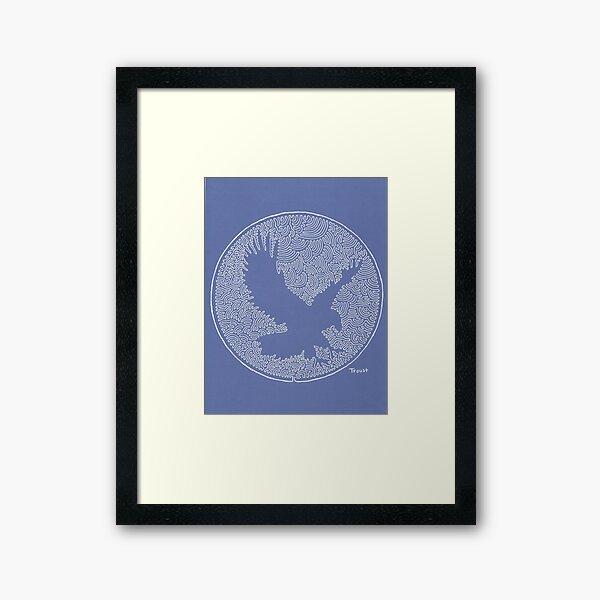 One Line Eagle by tfoust  Framed Art Print
