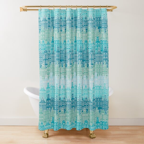 Blue streets of Old town Shower Curtain