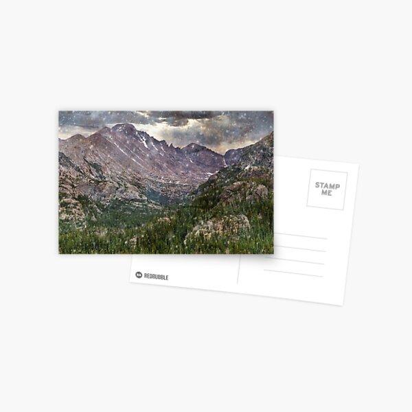 Blue Rockies in the Snow Postcard