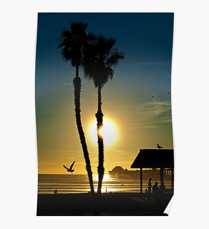 Sunset Oceanside California Poster