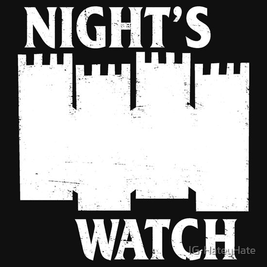 TShirtGifter presents: Castle Black Flag ( Night's Watch / Game of Thrones shirt) White Logo
