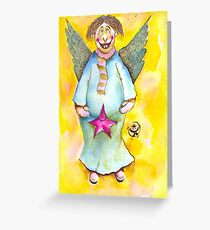 A Cross Eyed Angel for You Greeting Card