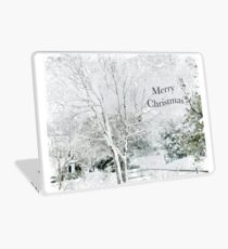 "Snow Fantasy ""Merry Christmas"" ~ Greeting Card Plus More! Laptop Skin"