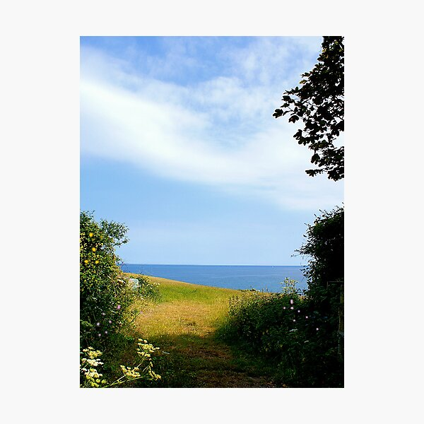 PATH TO THE SEA. Photographic Print