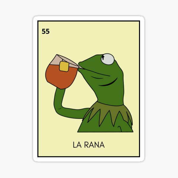 La Rana Loteria Card Sticker