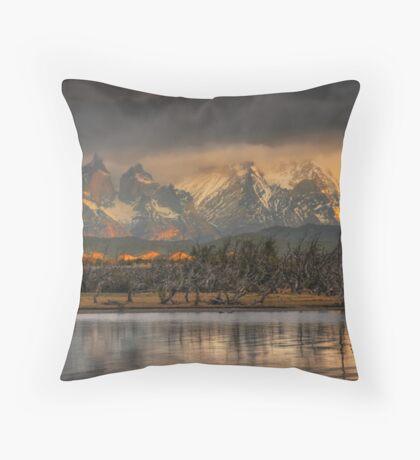 Sunrise in Torres del Paine #2 Throw Pillow