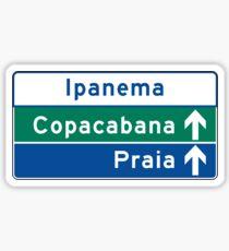 Ipanema/Copacabana/Beach, Traffic Sign, Brazil  Sticker