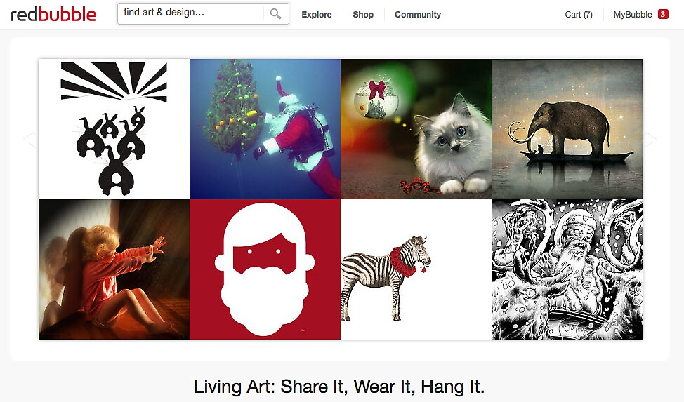 Christmas 2011 by The RedBubble Homepage