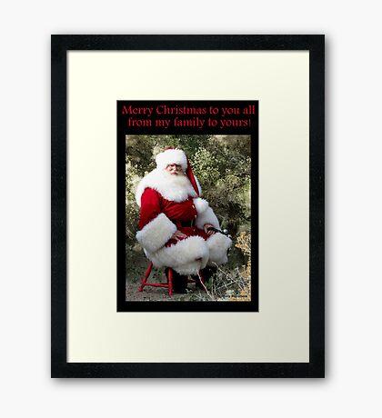 Sonoran Santa Clause Framed Print