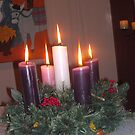 Christmas candles by AmandaWitt