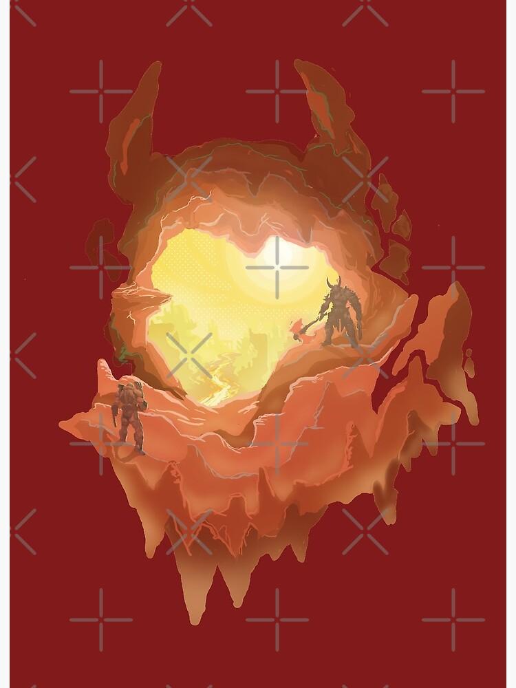 Marauder S Hell Doom Eternal Art Board Print By Vertei Redbubble