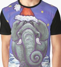 Elephant Christmas Graphic T-Shirt