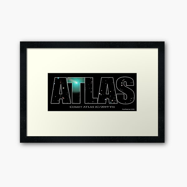 Comet Atlas Framed Art Print