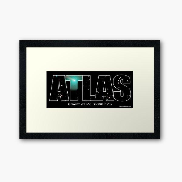 Comet Atlas Framed Art Print