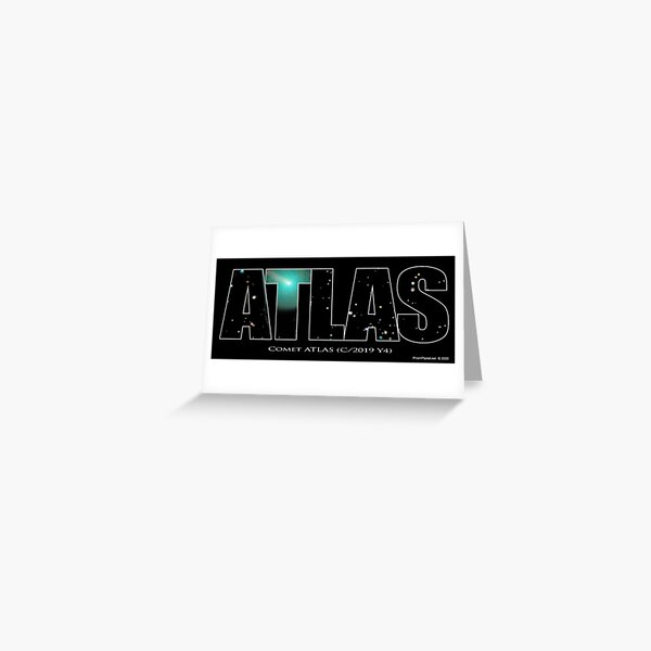 Comet Atlas Greeting Card
