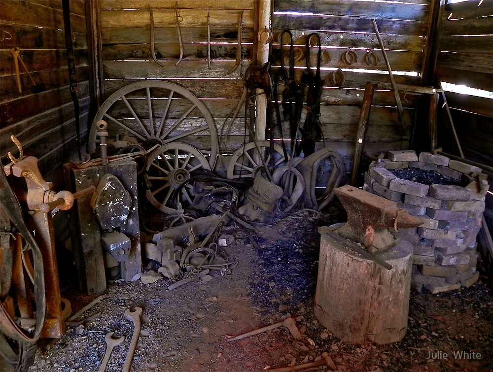 Blacksmiths Shed. by Julie  White