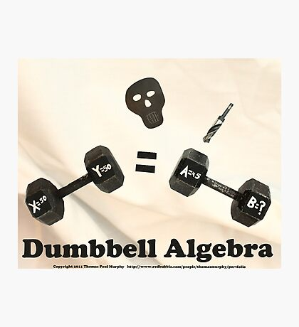Dumbbell Algebra  Photographic Print
