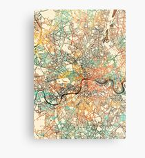 London map painting 4 Metal Print