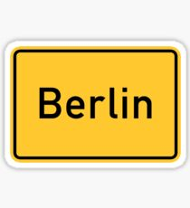 Berlin, Road Sign, Germany  Sticker