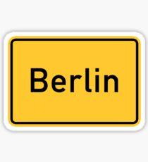Berlin, Verkehrsschild, Deutschland Sticker
