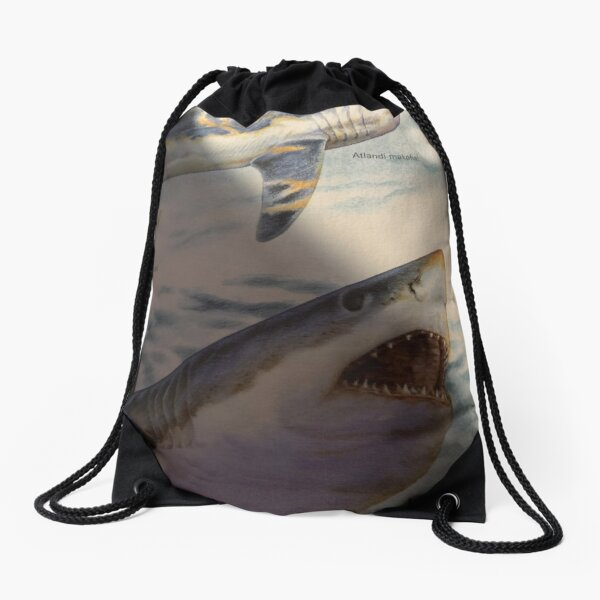 Genius is one percent inspiration and 99 percent perspiration.  Drawstring Bag
