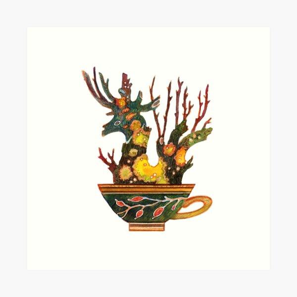 Tea dragon Art Print